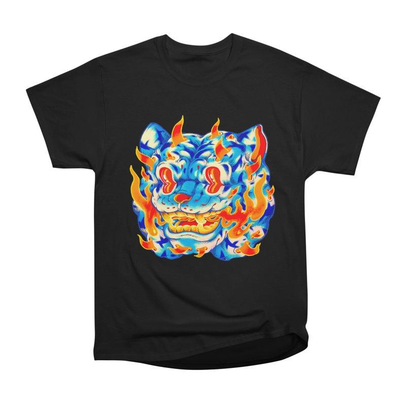 Frost Flame Tiger Women's Heavyweight Unisex T-Shirt by villainmazk's Artist Shop