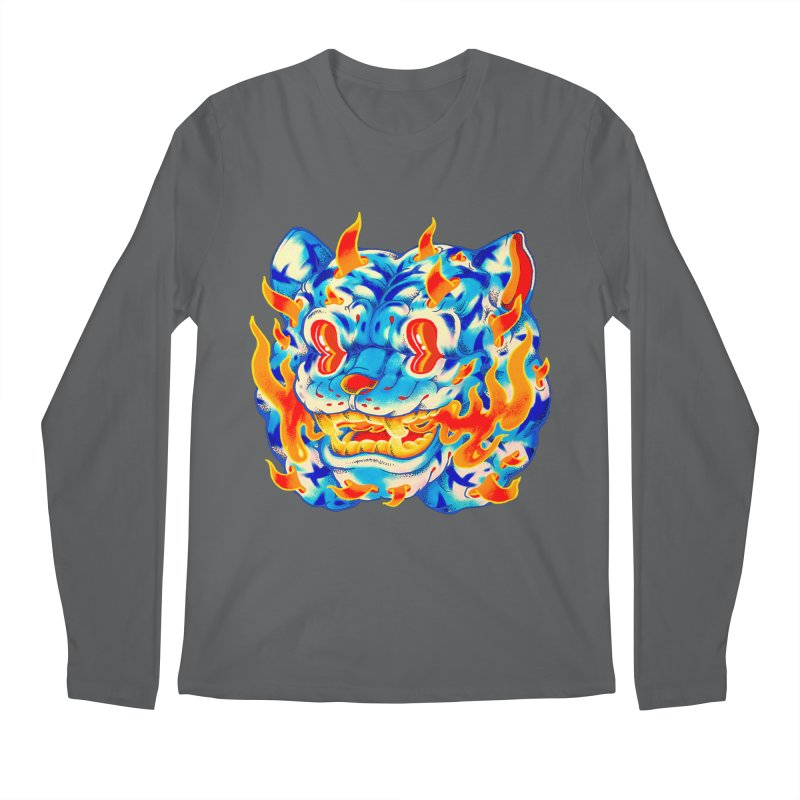 Frost Flame Tiger Men's Longsleeve T-Shirt by villainmazk's Artist Shop