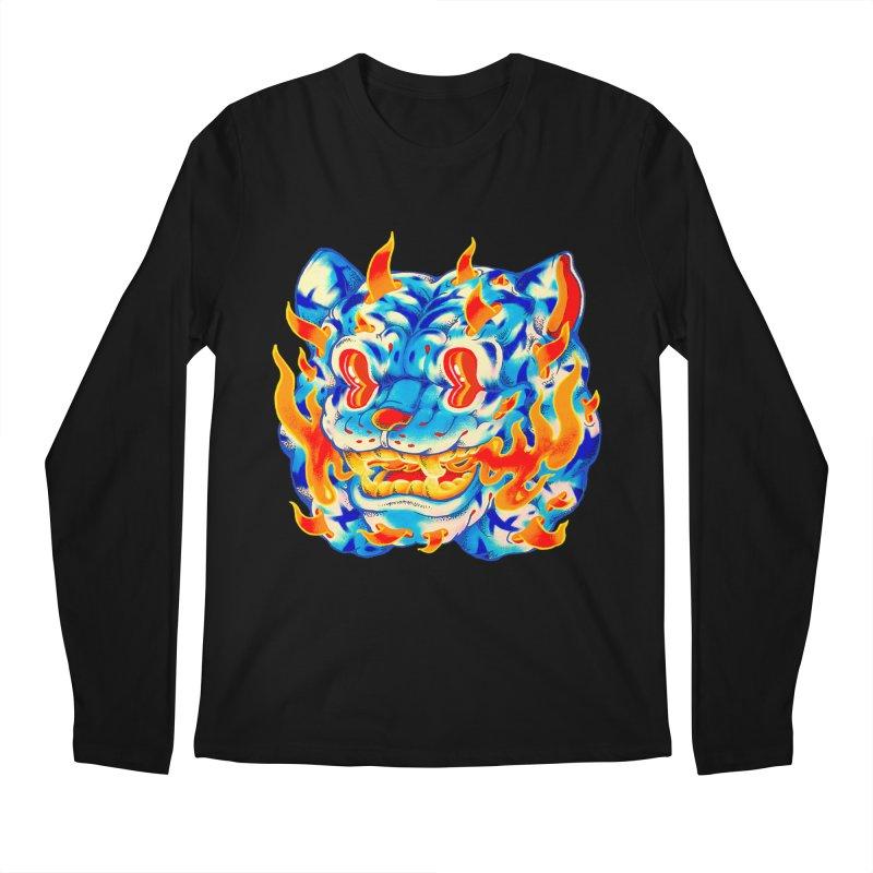 Frost Flame Tiger Men's Regular Longsleeve T-Shirt by villainmazk's Artist Shop
