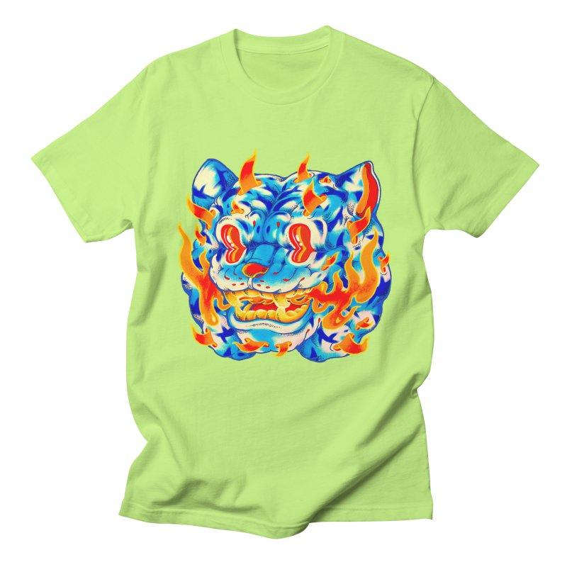 Frost Flame Tiger Men's Regular T-Shirt by villainmazk's Artist Shop