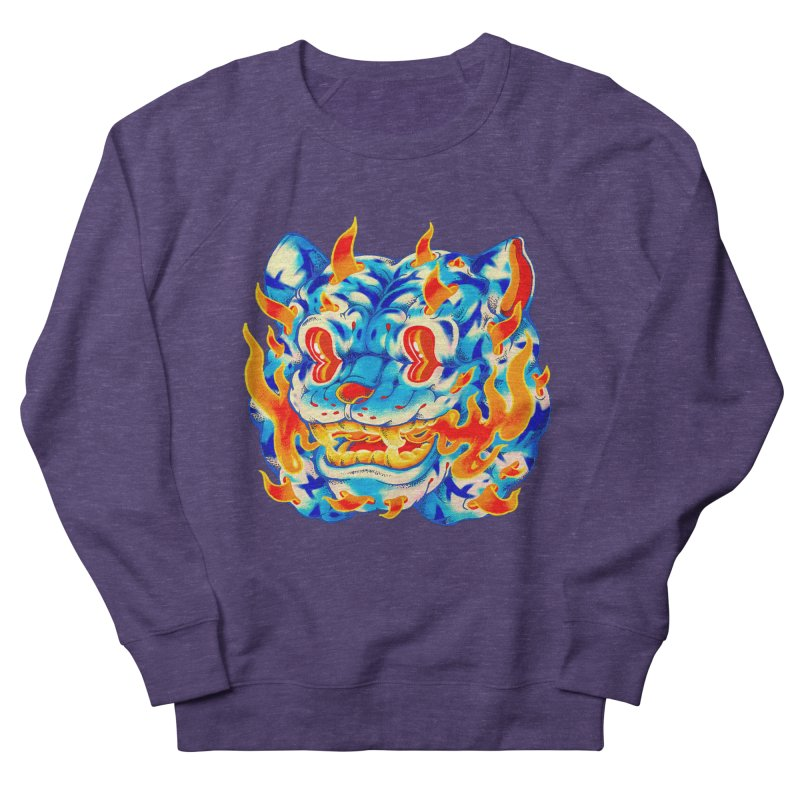 Frost Flame Tiger Men's French Terry Sweatshirt by villainmazk's Artist Shop