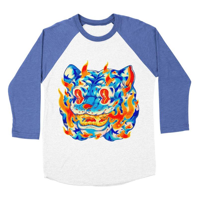 Frost Flame Tiger Men's Baseball Triblend Longsleeve T-Shirt by villainmazk's Artist Shop
