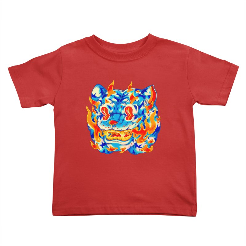 Frost Flame Tiger Kids Toddler T-Shirt by villainmazk's Artist Shop