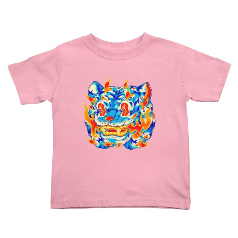 Frost Flame Tiger Kids Toddler T-Shirt by villainmazk's Artist Shop