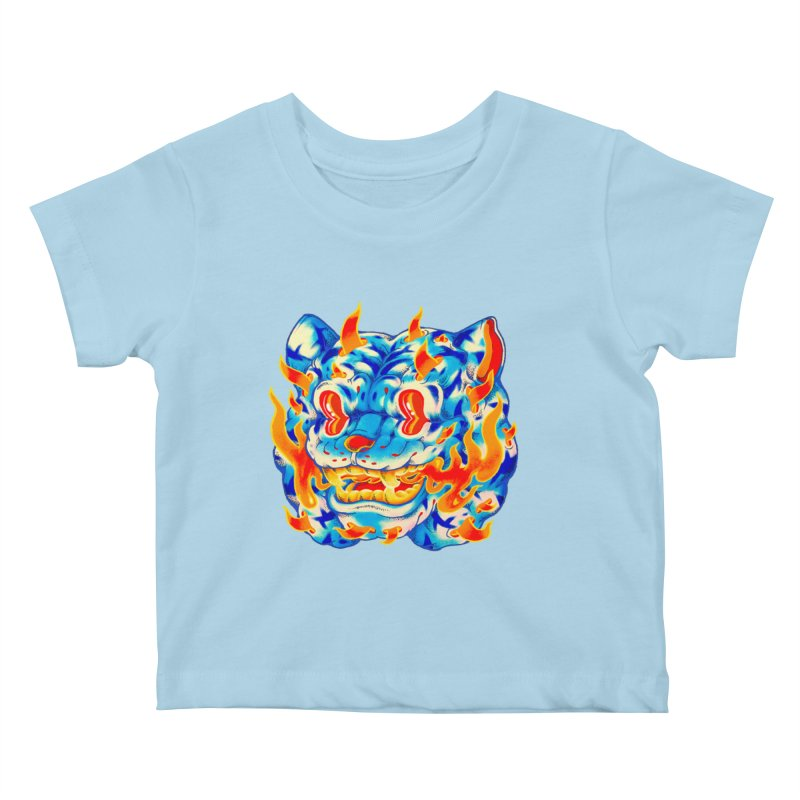 Frost Flame Tiger Kids Baby T-Shirt by villainmazk's Artist Shop