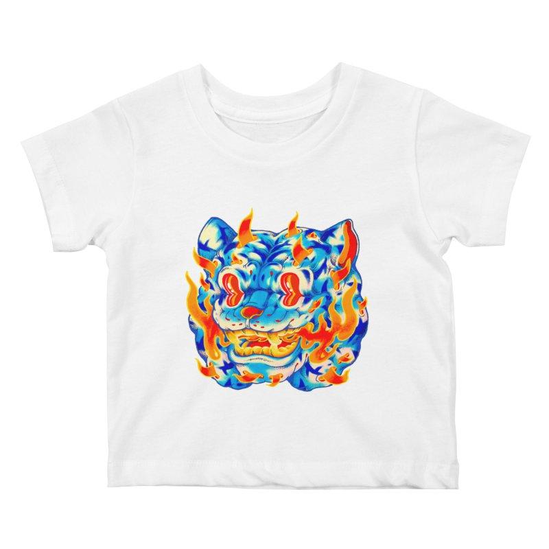 Frost Flame Tiger Kids Baby T-Shirt by villainmazk's Artist Shop