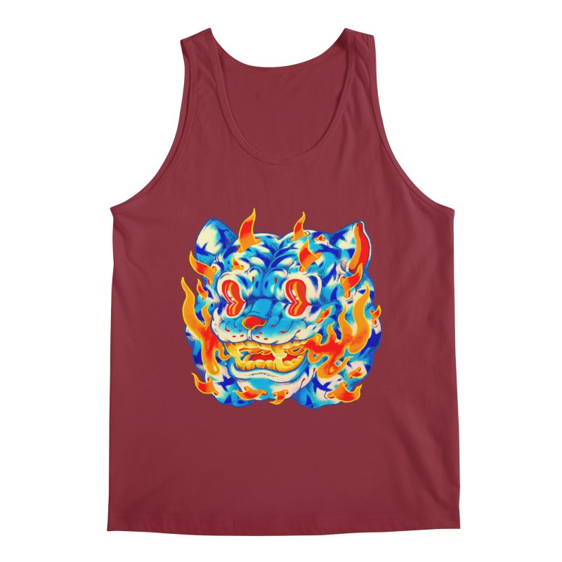 Frost Flame Tiger Men's Tank by villainmazk's Artist Shop