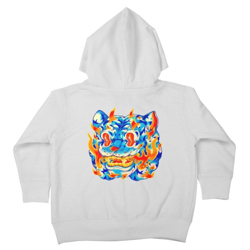 Frost Flame Tiger Kids Toddler Zip-Up Hoody by villainmazk's Artist Shop