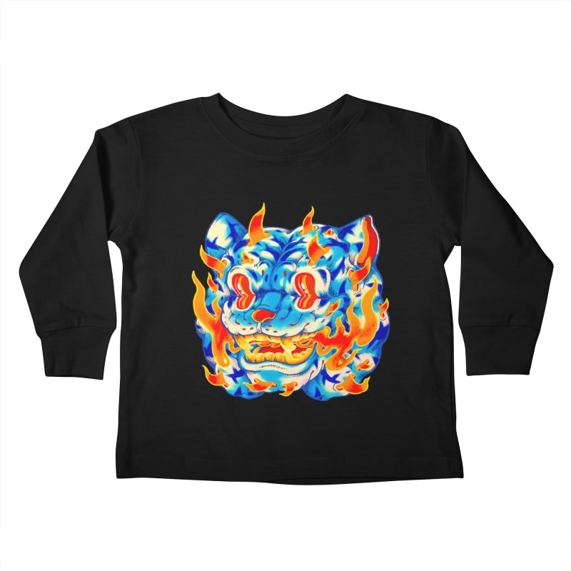 Frost Flame Tiger Kids Toddler Longsleeve T-Shirt by villainmazk's Artist Shop