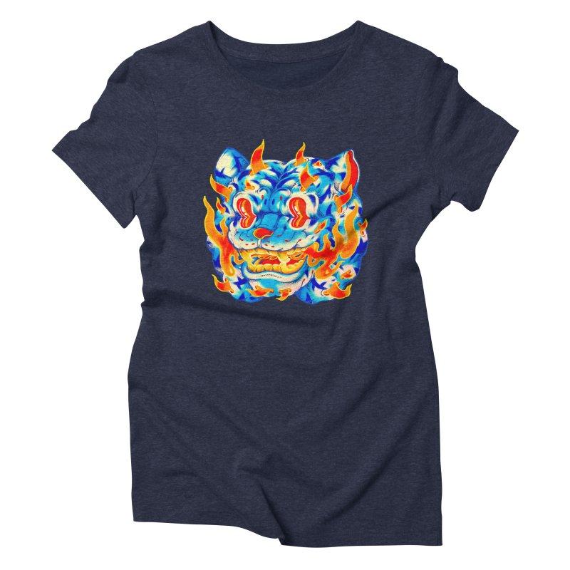 Frost Flame Tiger Women's Triblend T-Shirt by villainmazk's Artist Shop