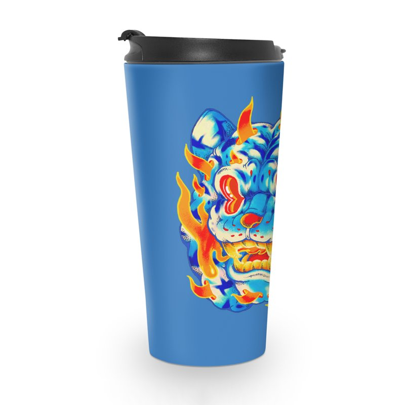Frost Flame Tiger Accessories Mug by villainmazk's Artist Shop
