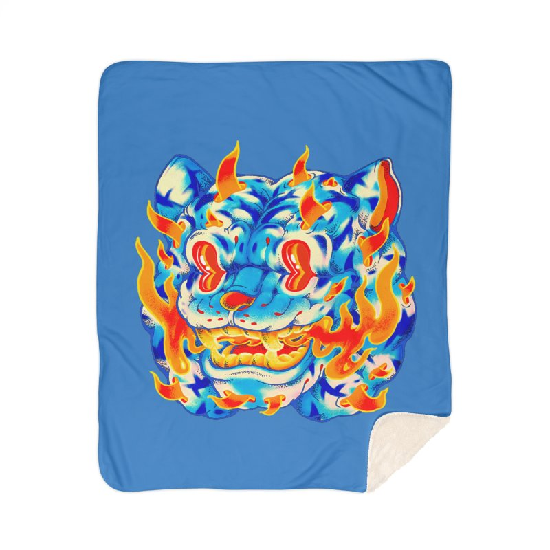 Frost Flame Tiger Home Blanket by villainmazk's Artist Shop