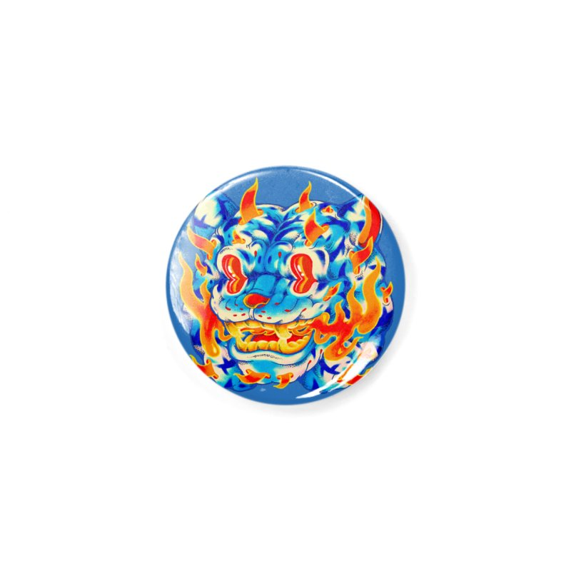 Frost Flame Tiger Accessories Button by villainmazk's Artist Shop