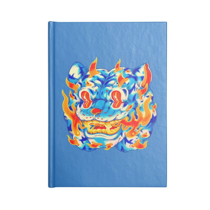 Frost Flame Tiger Accessories Blank Journal Notebook by villainmazk's Artist Shop