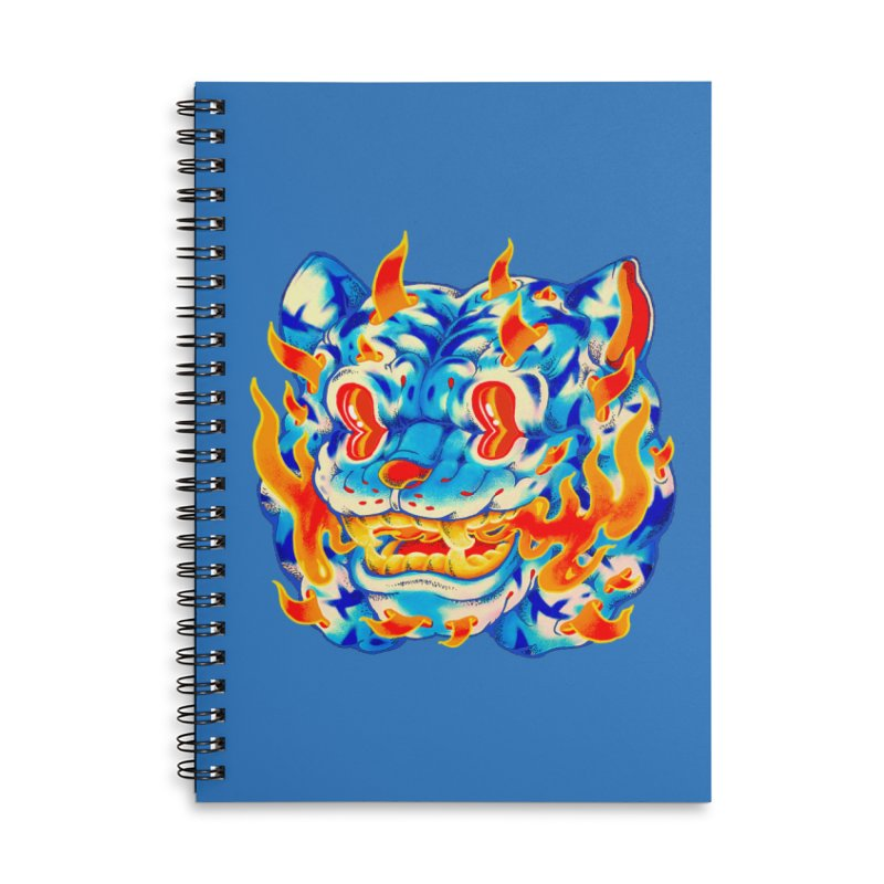 Frost Flame Tiger Accessories Notebook by villainmazk's Artist Shop