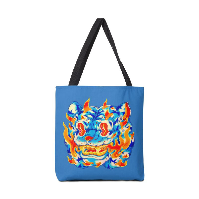 Frost Flame Tiger Accessories Tote Bag Bag by villainmazk's Artist Shop