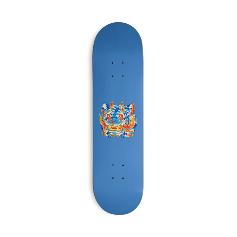 Frost Flame Tiger Accessories Skateboard by villainmazk's Artist Shop