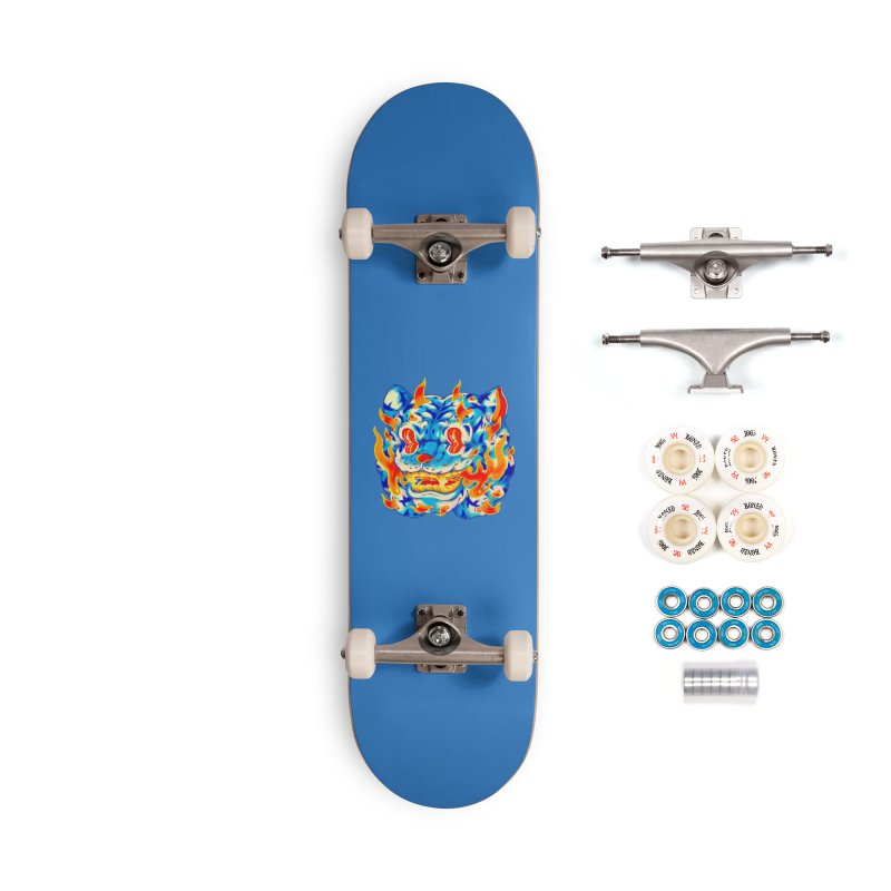 Frost Flame Tiger Accessories Complete - Premium Skateboard by villainmazk's Artist Shop