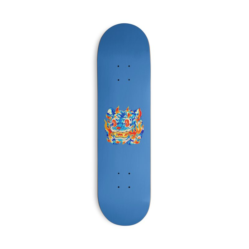 Frost Flame Tiger Accessories Deck Only Skateboard by villainmazk's Artist Shop