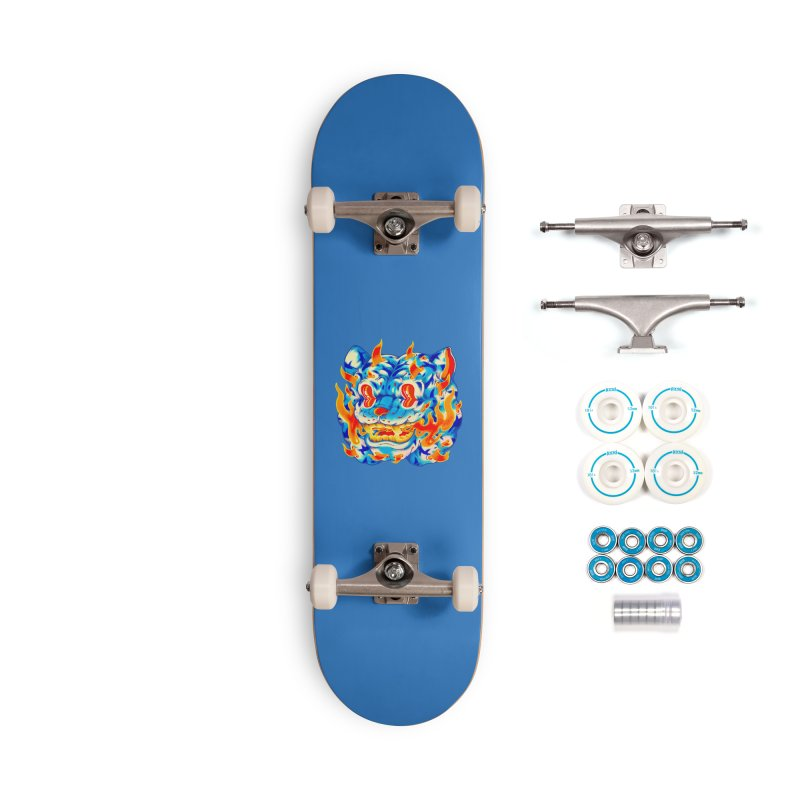Frost Flame Tiger Accessories Complete - Basic Skateboard by villainmazk's Artist Shop