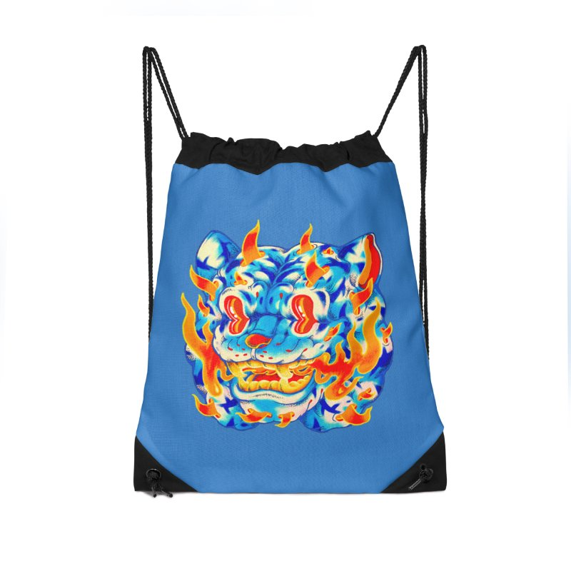Frost Flame Tiger Accessories Bag by villainmazk's Artist Shop