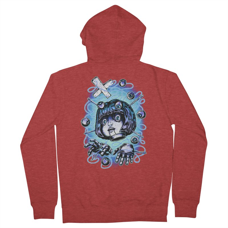 Shadow Puppet Men's French Terry Zip-Up Hoody by villainmazk's Artist Shop