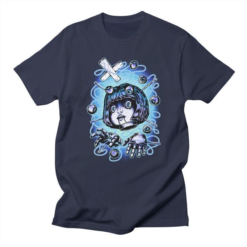 Shadow Puppet in Men's Regular T-Shirt Navy by villainmazk's Artist Shop