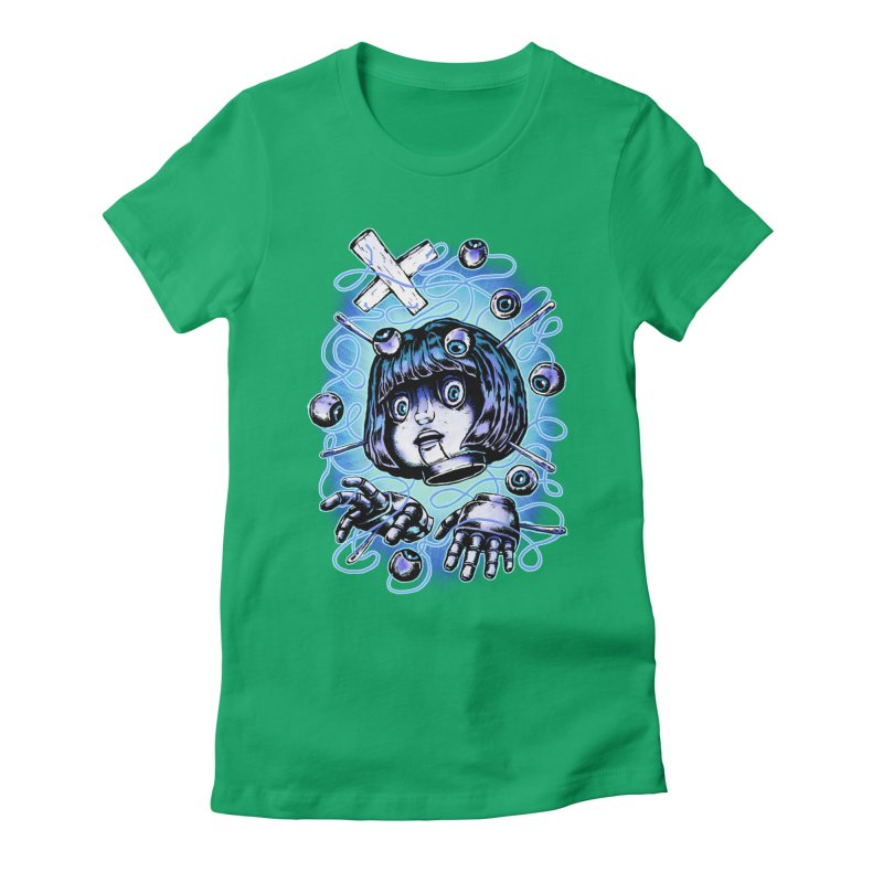 Shadow Puppet Women's Fitted T-Shirt by villainmazk's Artist Shop