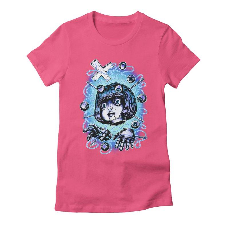 Shadow Puppet Women's Fitted T-Shirt by villainmazk's Artist Shop