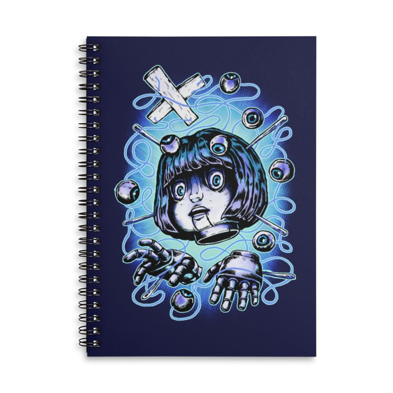 Shadow Puppet Accessories Lined Spiral Notebook by villainmazk's Artist Shop