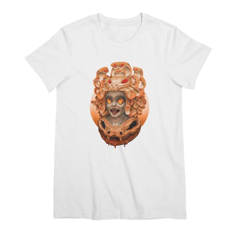 Golden Medusa Women's Premium T-Shirt by villainmazk's Artist Shop