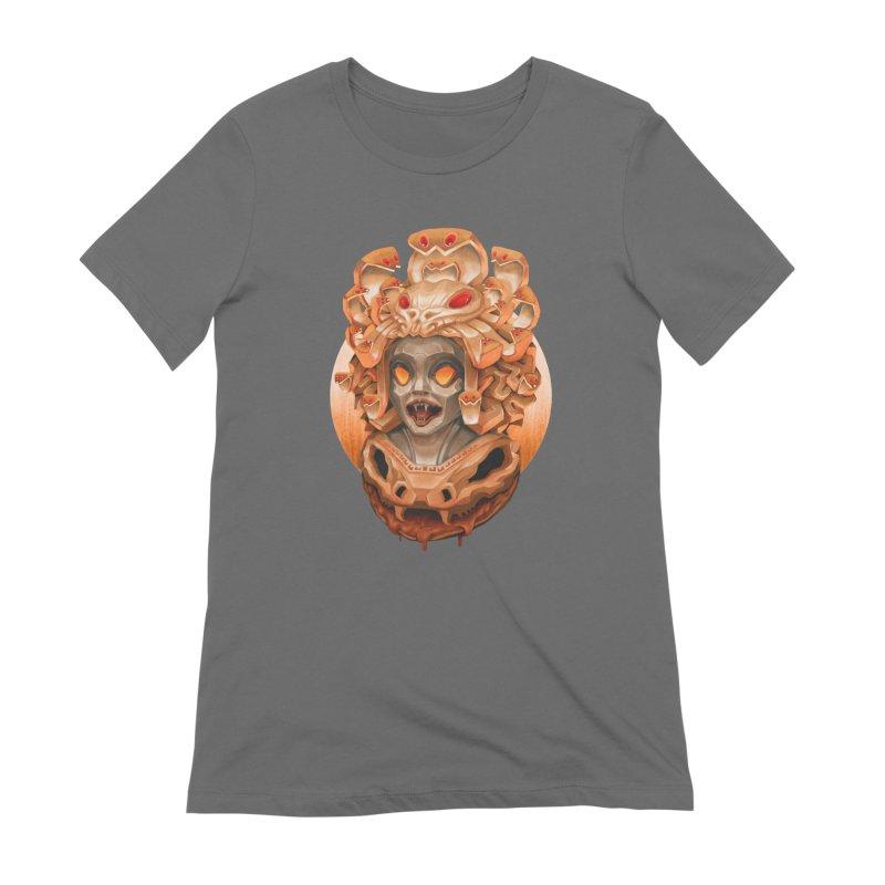 Golden Medusa Women's T-Shirt by villainmazk's Artist Shop