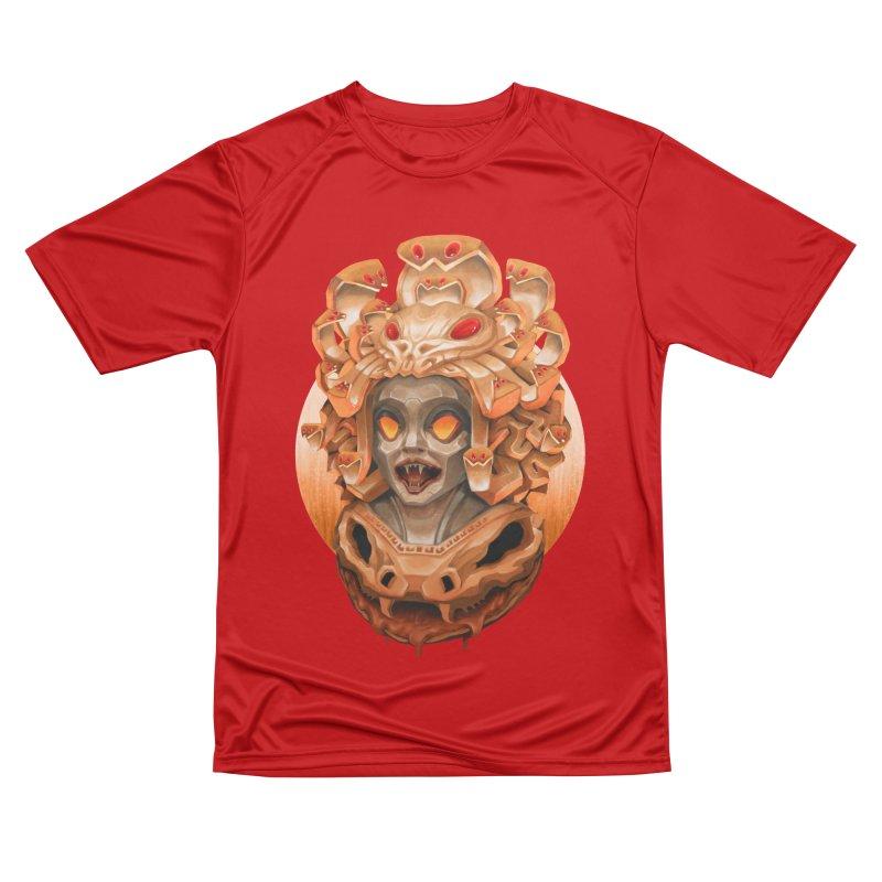 Golden Medusa Women's Performance Unisex T-Shirt by villainmazk's Artist Shop