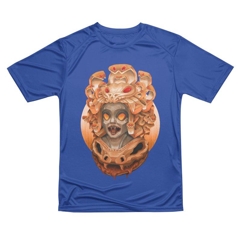 Golden Medusa Men's Performance T-Shirt by villainmazk's Artist Shop