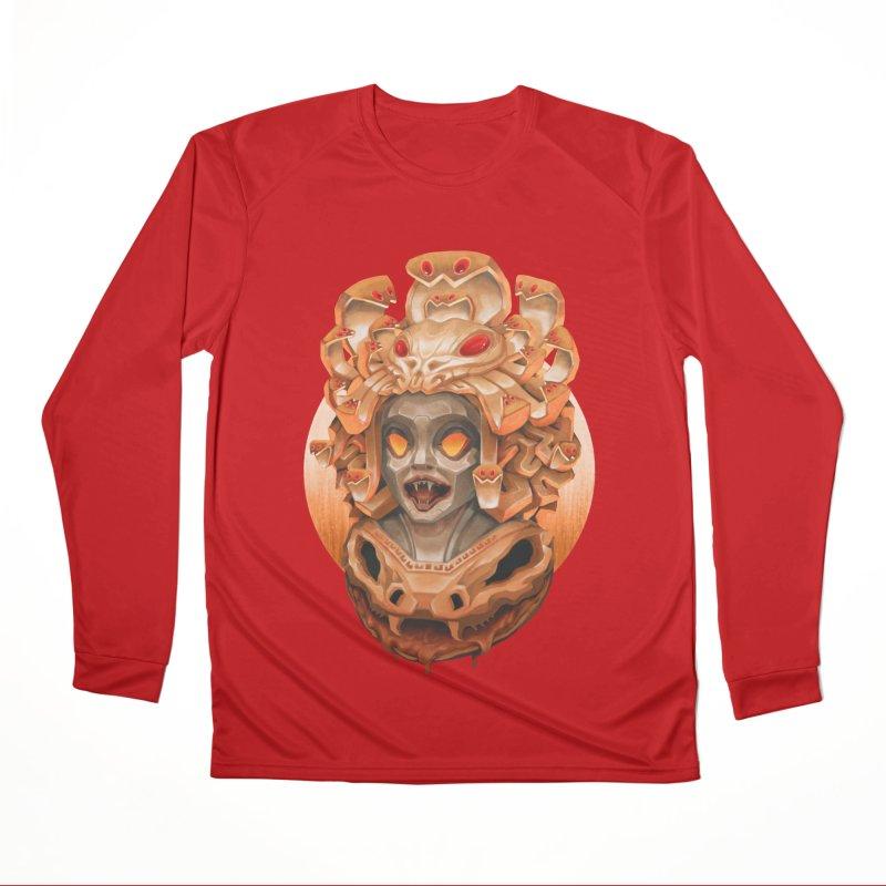 Golden Medusa Women's Performance Unisex Longsleeve T-Shirt by villainmazk's Artist Shop