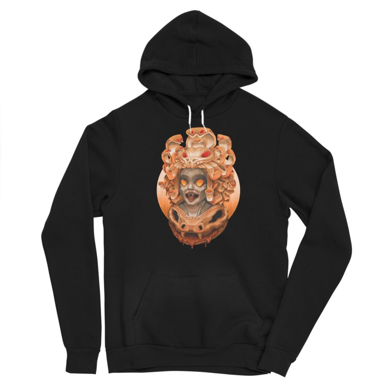 Golden Medusa Men's Sponge Fleece Pullover Hoody by villainmazk's Artist Shop