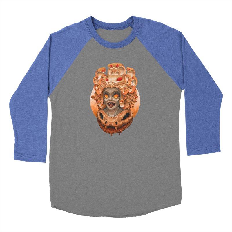 Golden Medusa Men's Baseball Triblend Longsleeve T-Shirt by villainmazk's Artist Shop