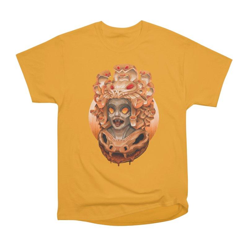 Golden Medusa Men's Heavyweight T-Shirt by villainmazk's Artist Shop