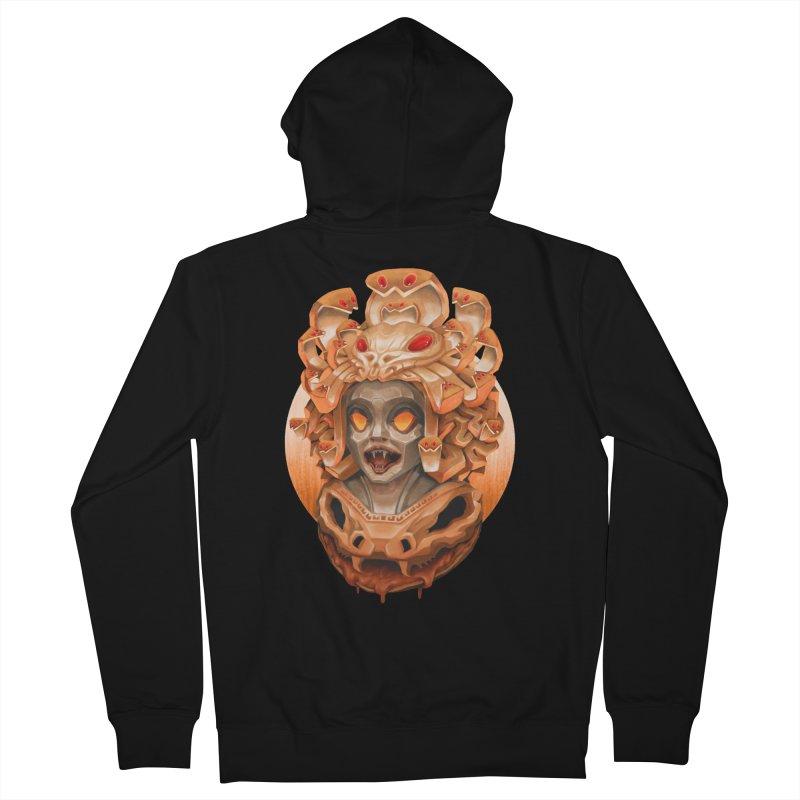 Golden Medusa Women's French Terry Zip-Up Hoody by villainmazk's Artist Shop
