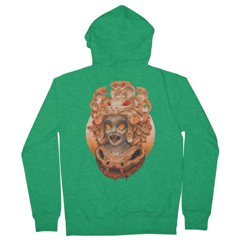Golden Medusa Men's Zip-Up Hoody by villainmazk's Artist Shop
