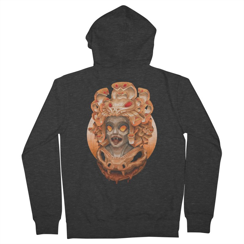 Golden Medusa Men's French Terry Zip-Up Hoody by villainmazk's Artist Shop
