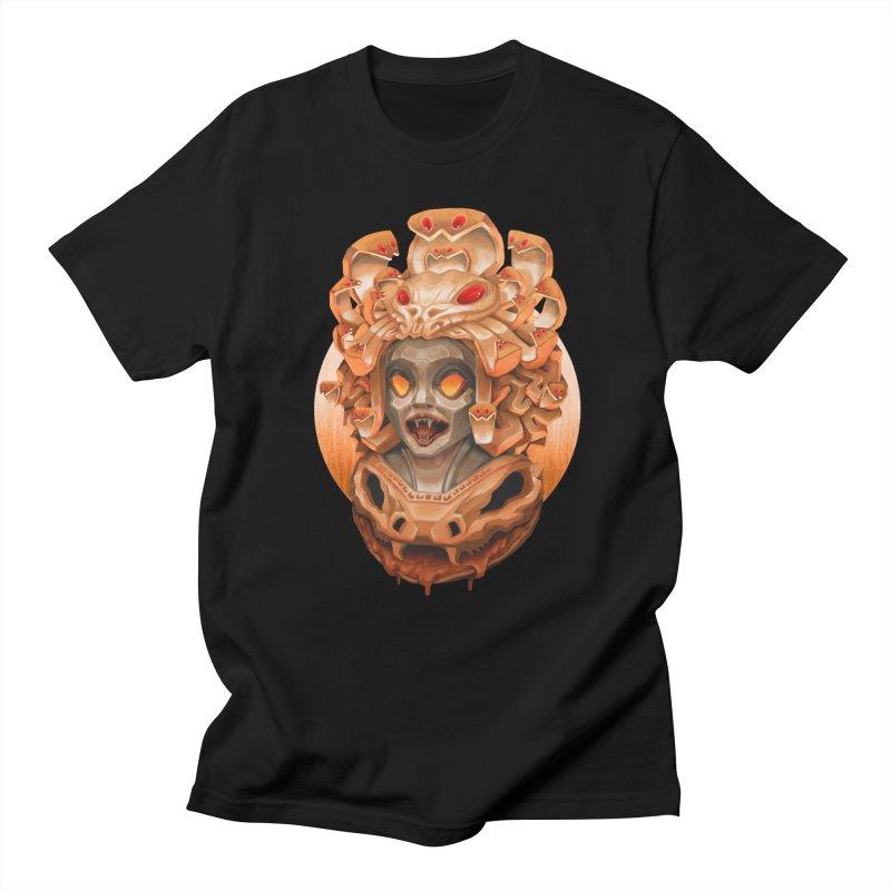 Golden Medusa in Men's Regular T-Shirt Black by villainmazk's Artist Shop
