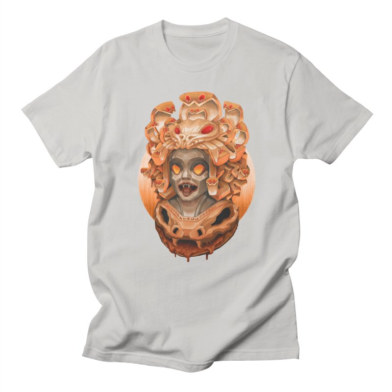 Golden Medusa Men's Regular T-Shirt by villainmazk's Artist Shop