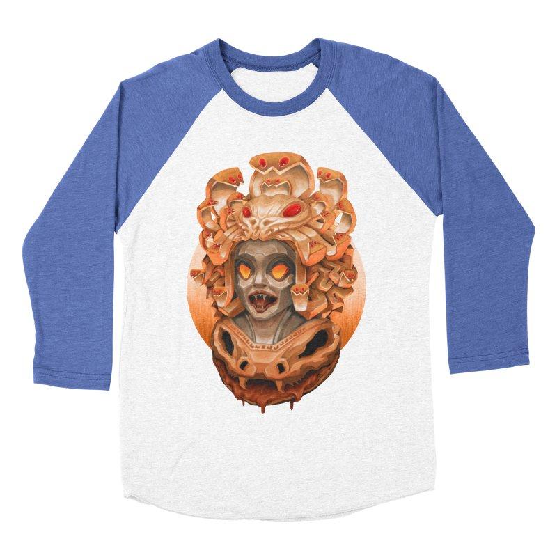 Golden Medusa Women's Baseball Triblend Longsleeve T-Shirt by villainmazk's Artist Shop