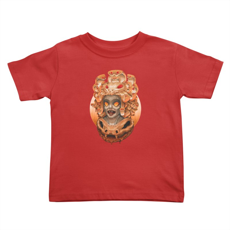 Golden Medusa Kids Toddler T-Shirt by villainmazk's Artist Shop