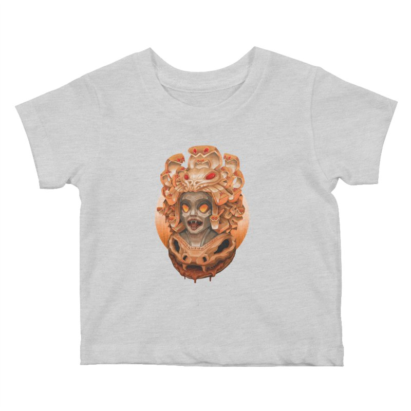 Golden Medusa Kids Baby T-Shirt by villainmazk's Artist Shop