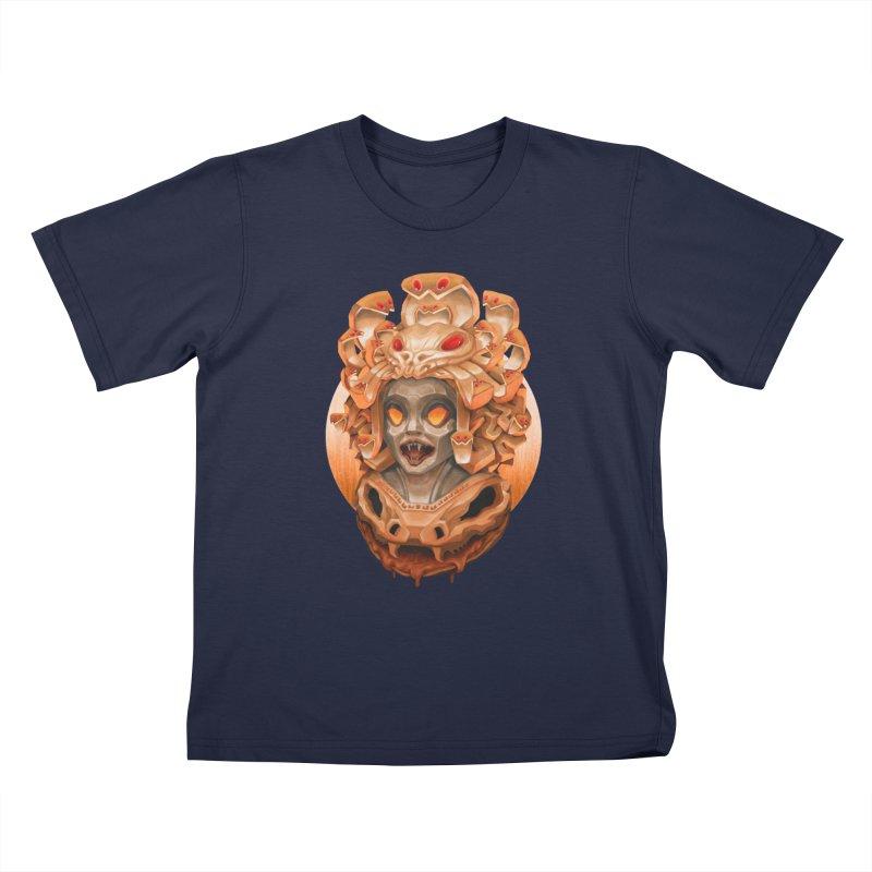 Golden Medusa Kids T-Shirt by villainmazk's Artist Shop