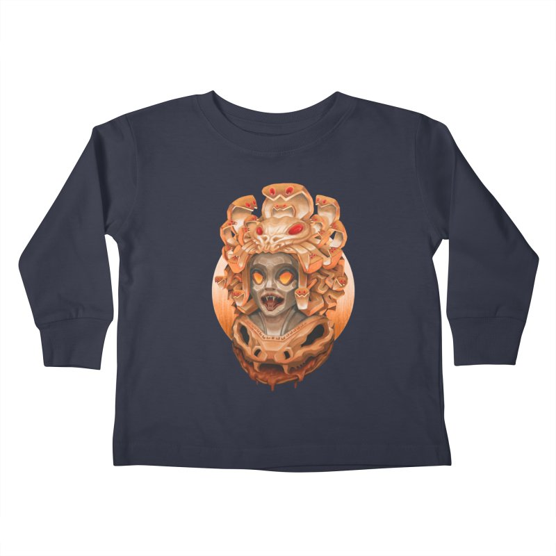 Golden Medusa Kids Toddler Longsleeve T-Shirt by villainmazk's Artist Shop