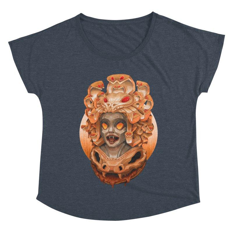 Golden Medusa Women's Dolman Scoop Neck by villainmazk's Artist Shop