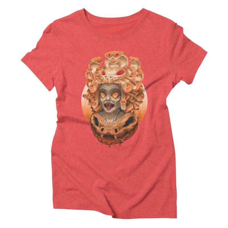 Golden Medusa Women's Triblend T-Shirt by villainmazk's Artist Shop